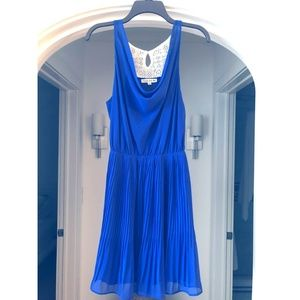 Double Zero Short Sheer Blue Dress with Lace